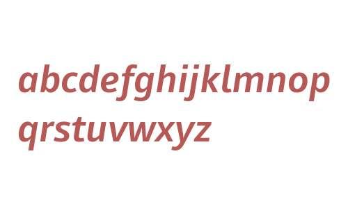 Mayberry W02 SemiBold Italic