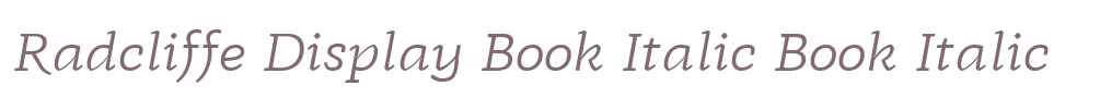 Radcliffe Display Book Italic