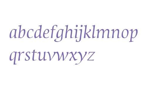 Sierra W04 Italic