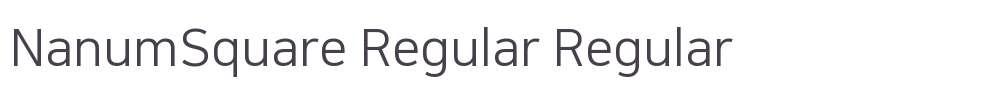 NanumSquare Regular