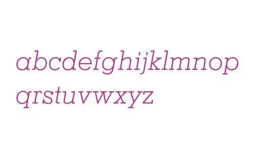 Memphis LT Std Light Italic