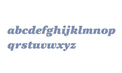 ITC Cheltenham Std Ultra Italic