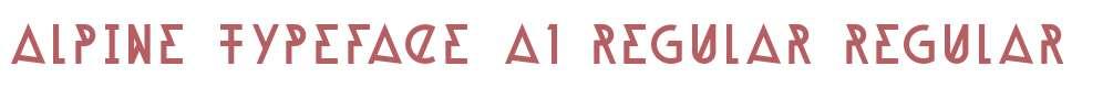 Alpine Typeface A1 Regular