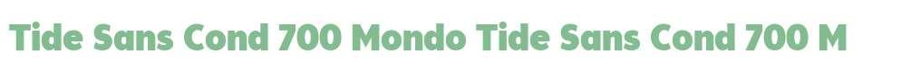 Tide Sans Cond 700 Mondo
