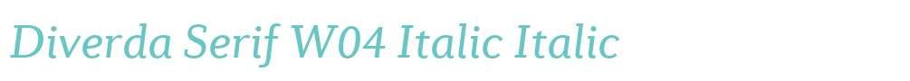 Diverda Serif W04 Italic