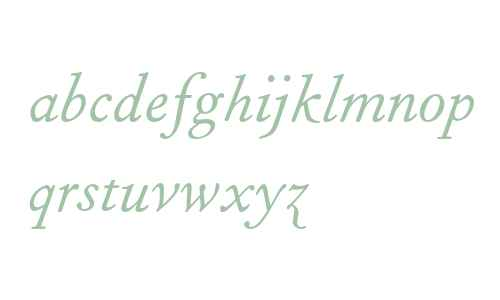 Fournier MT Italic Old Style Figures