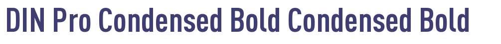 DIN Pro Condensed Bold