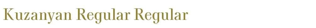 Kuzanyan Regular
