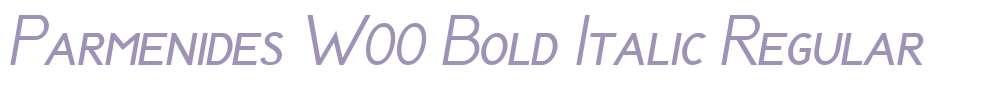 Parmenides W00 Bold Italic