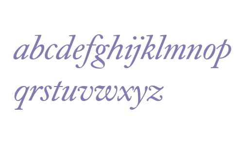 Caslon Book BE Italic Oldstyle Figures