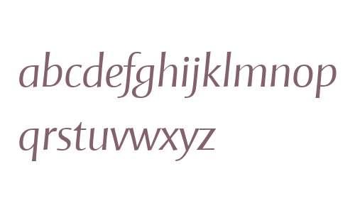 Mentor Sans W04 Light Italic