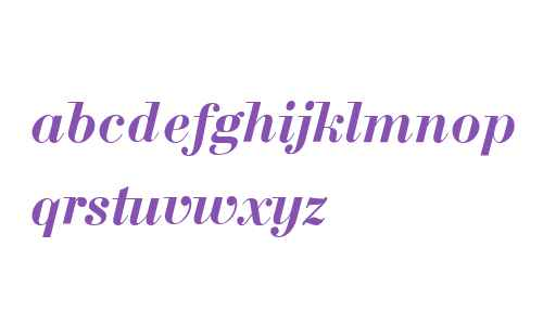 Bodoni W08 Bold Italic