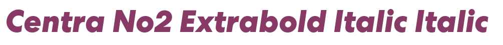 Centra No2 Extrabold Italic
