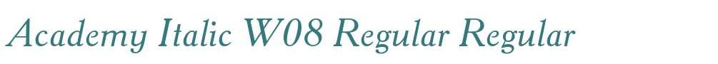 Academy Italic W08 Regular