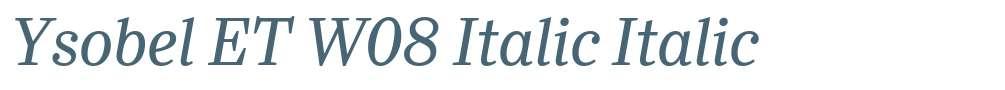 Ysobel ET W08 Italic