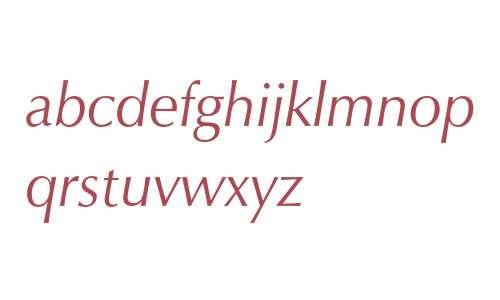 Zapf Humanist 601 Italic