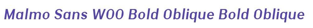 Malmo Sans W00 Bold Oblique