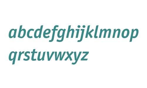 ITC Officina Sans W04 Bd Italic