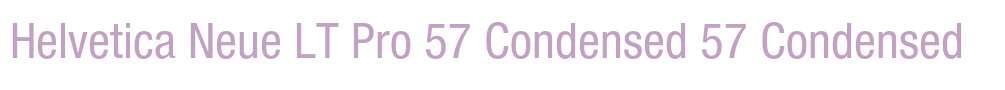 Helvetica Neue LT Pro 57 Condensed