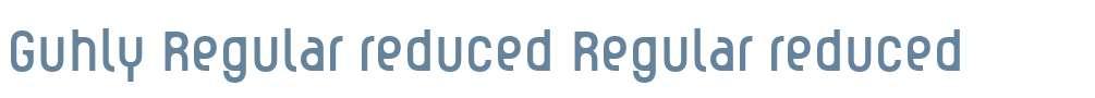 Guhly Regular reduced