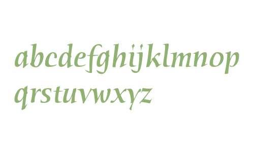Humana Serif ITC Medium Italic