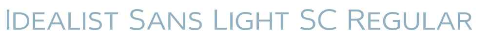 Idealist Sans Light SC