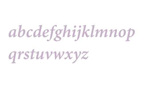 Minion Pro Semibold Italic Caption
