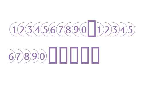 Bullet Numbers W90 Sans Neg