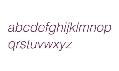 Helvetica LT Std Light Oblique