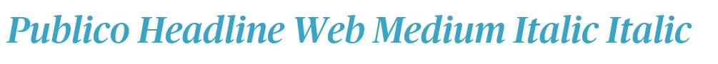 Publico Headline Web Medium Italic
