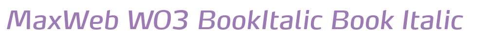 MaxWeb W03 BookItalic