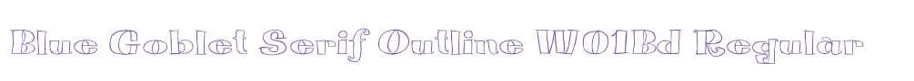 Blue Goblet Serif Outline W01Bd