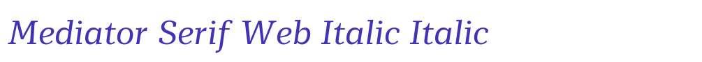 Mediator Serif Web Italic