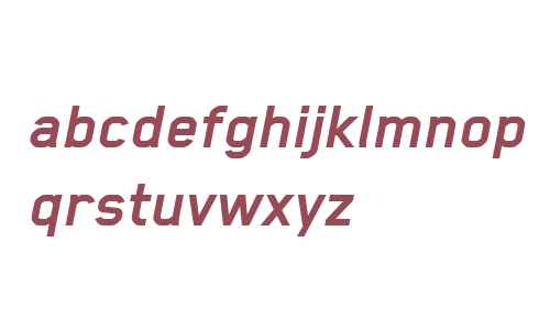 Blender W00 Bold Italic