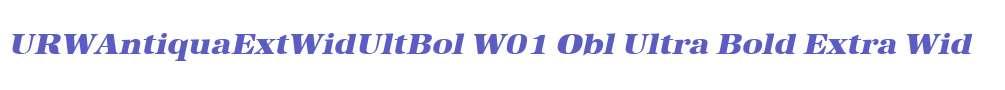 URWAntiquaExtWidUltBol W01 Obl