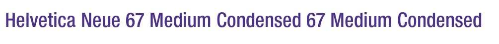 Helvetica Neue 67 Medium Condensed