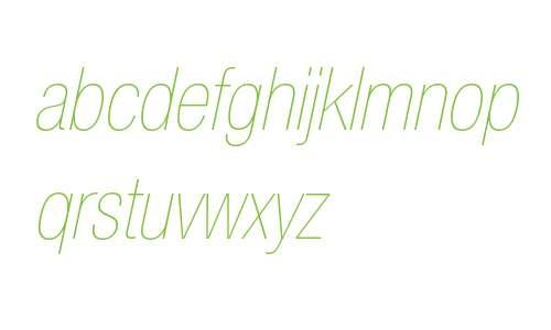 HelveticaNeueLTW0627UltLtCnObl