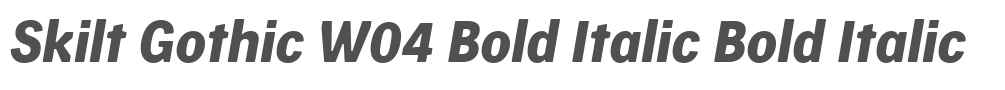 Skilt Gothic W04 Bold Italic