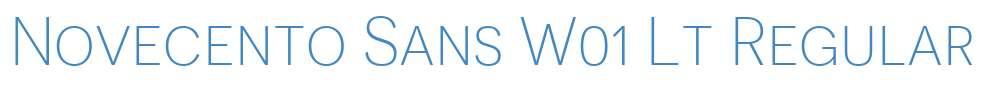 Novecento Sans W01 Lt