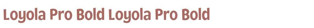 Loyola Pro Bold