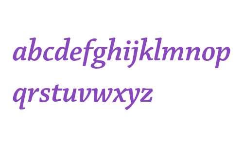 Chaparral Pro Semibold Italic Subhead