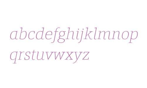 Foro W03 Thin Italic