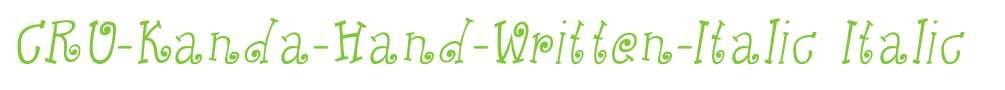 CRU-Kanda-Hand-Written-Italic