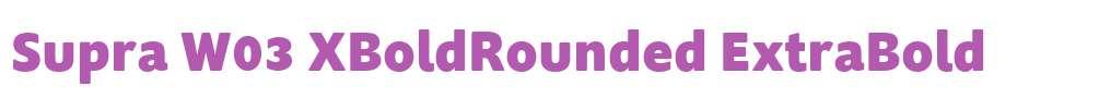 Supra W03 XBoldRounded