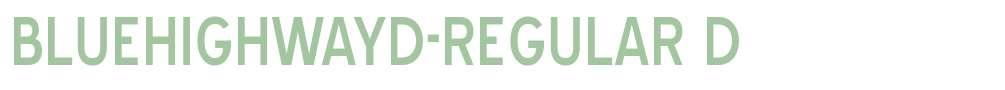 BlueHighwayD-Regular