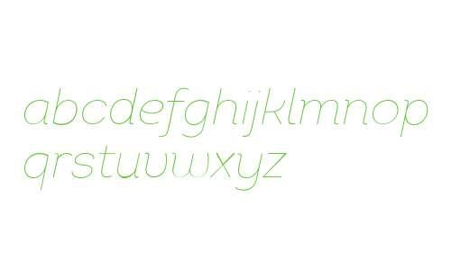 Intro W01 Thin Italic