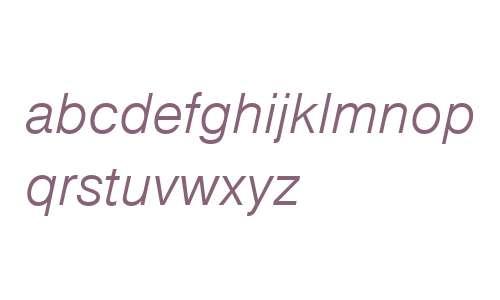 Nimbus Sans D W01 Light Italic