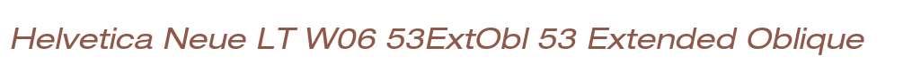 Helvetica Neue LT W06 53ExtObl