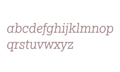 Egyptian Slate W04 Light Italic