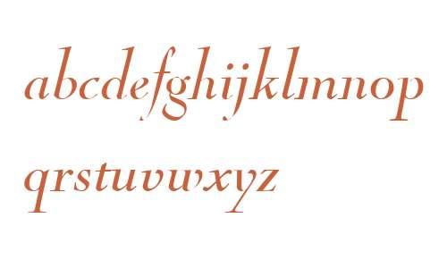 Nicolas Cochin W01 Italic